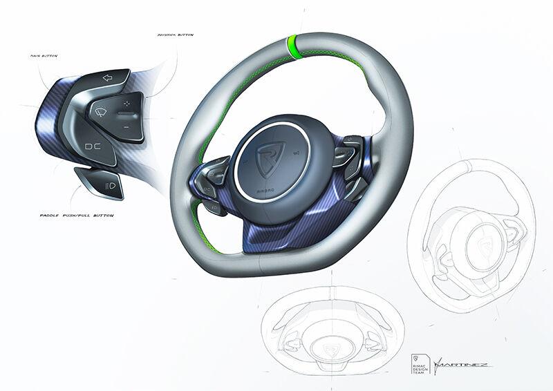 Nevera sketch detail 02 steering wheel