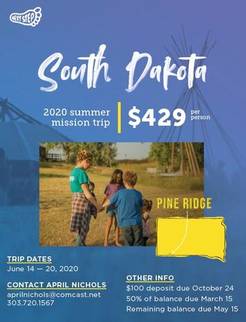 South Dakota Mission Trip Flyer