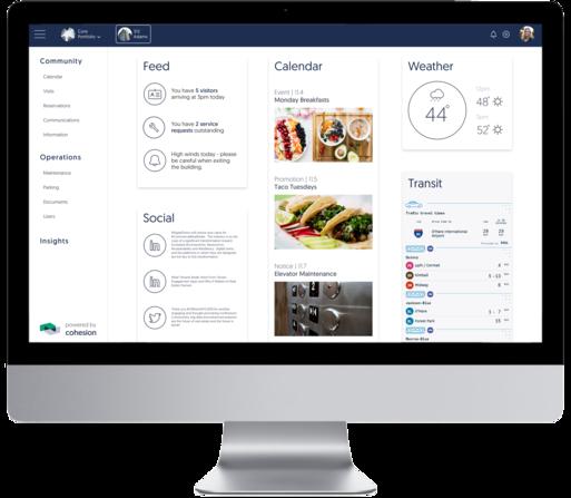 cohesion intelligent building platform web interface