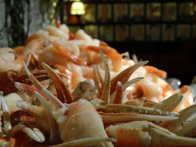 Close up of crab legs platter Sardi's