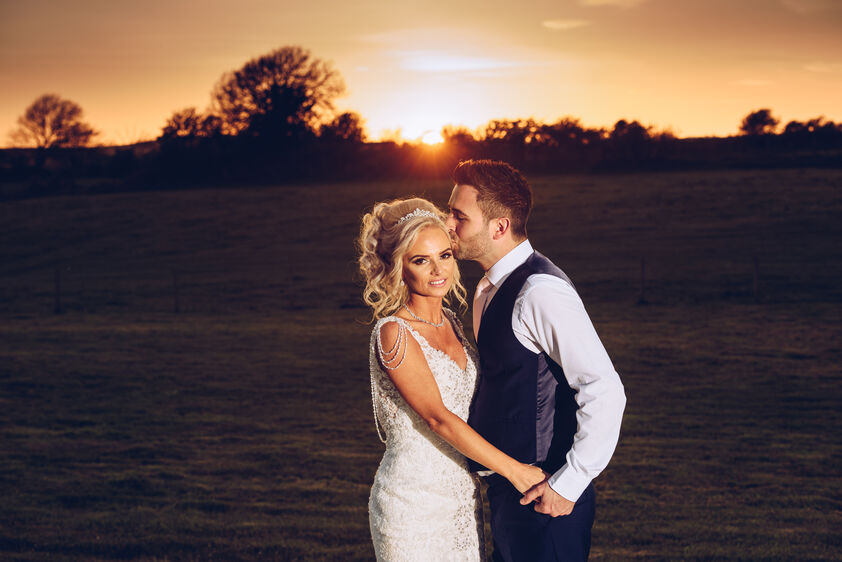 Jenna and Ben, sunset wedding photography at Oldwalls Gower