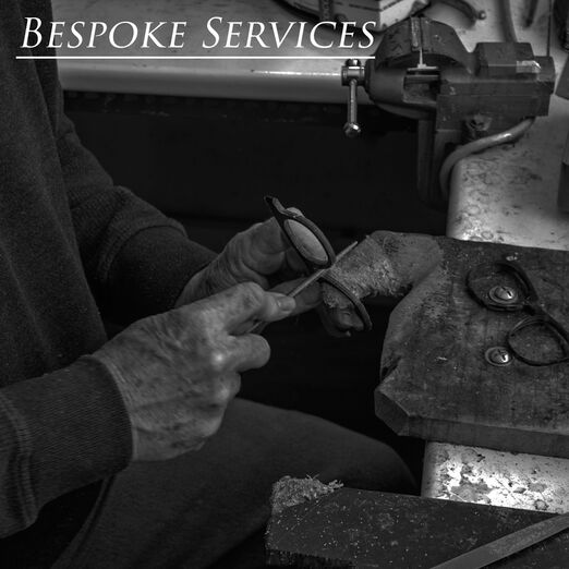 Our craftsman making bespoke spectacles at the workshop