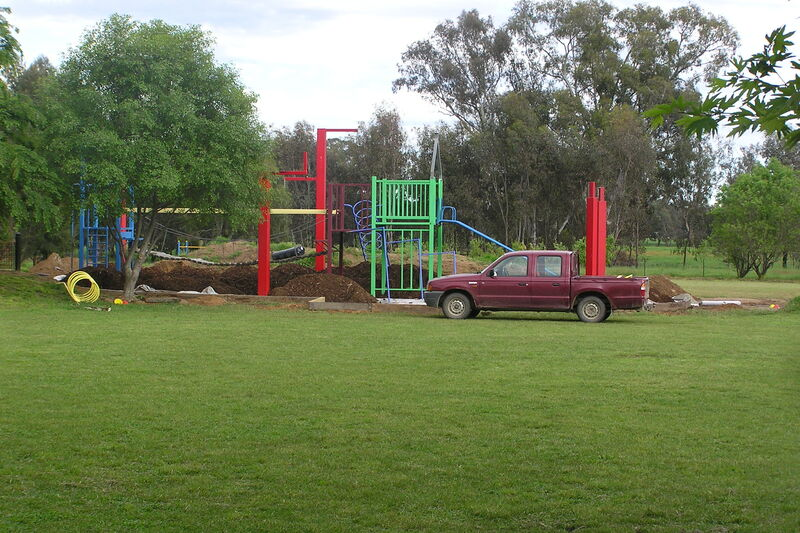 Relocating the play equipment.