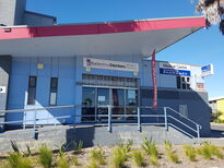 Front entrance of Baderdrive Doctors next to the Mangere Arts Centre and the Mangere Bus Station.