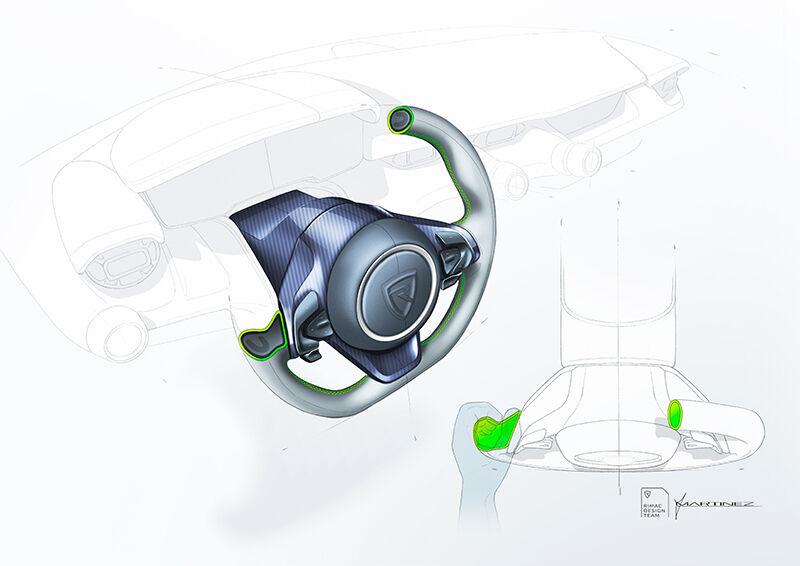 Nevera sketch detail 03 steering wheel