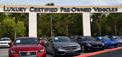 Outside image of the Lexus of Fort Myers Luxury Certified Pre-Owned Vehicle Channel letters.