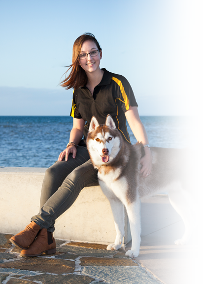 Dog Trainer Maddie & Clay the Siberian Husky