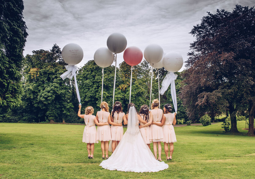 bridesmaids in Bridgend wedding