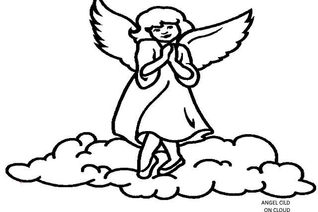 ANGEL CHILD ON CLOUD