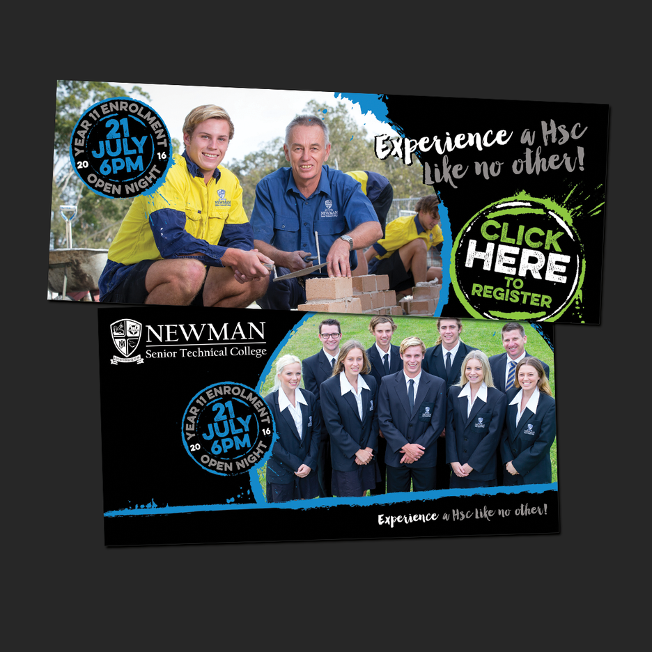 Social Media Campaign Design for Newman Senior Technical College' Enrolment - Web Banner Design, Social Media Design, EDM Design.