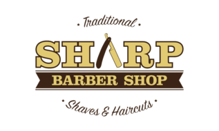sharp barbershop logo transparent
