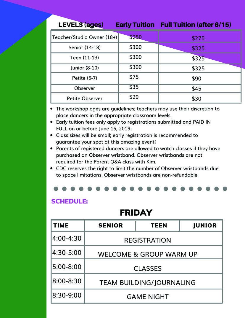 The Movement Info sheet 2