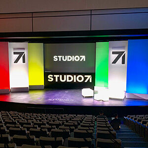 View of stage with event set at 787 Seventh Avenue continue to venue page