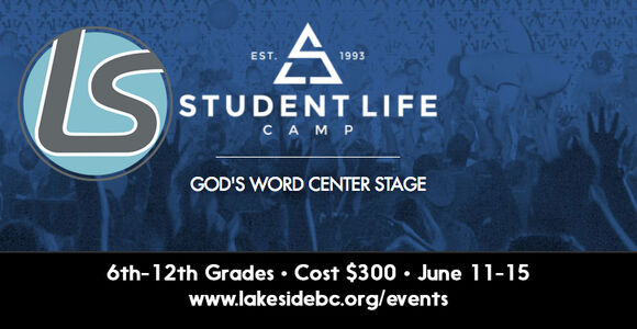Student Life Camp Gods Word Center Stage