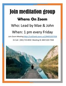 Meditation Group Flyer (with Mae Bragen)