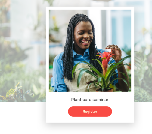 A woman talking about how to care for plants.