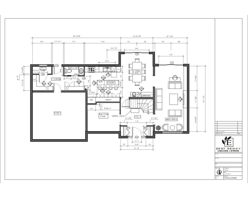 main floor renovation plan AutoCAD drawing