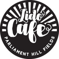 graphic design logo for lido cafe in parliament hill fields