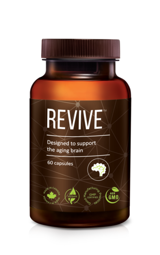 A bottle of REVIVE™ Brain Supplement