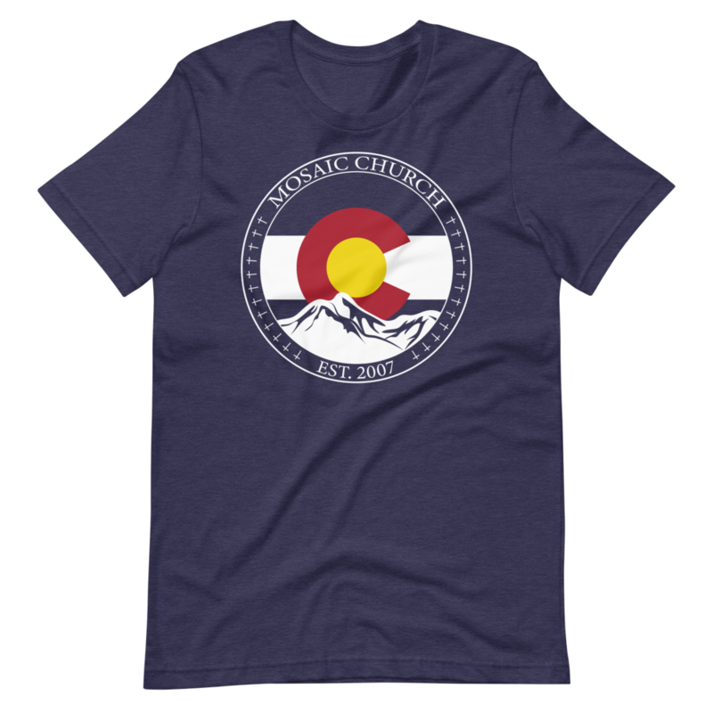 Link to Mosaic Church CO Mountain Flag T-Shirt
