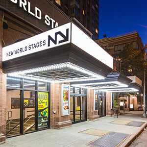 Exterior theater view from street at New World Stages continue to venue page