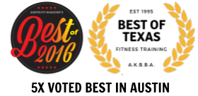 Our Austin, TX Impact Strong has been voted 5 years as Austin Fit Best in Austin!