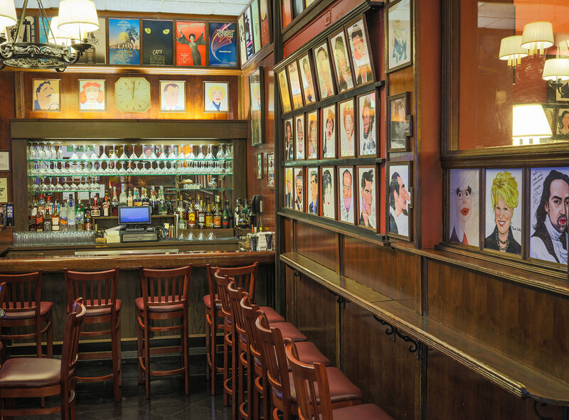 Sardi's The Little Bar with caricatures and show posters