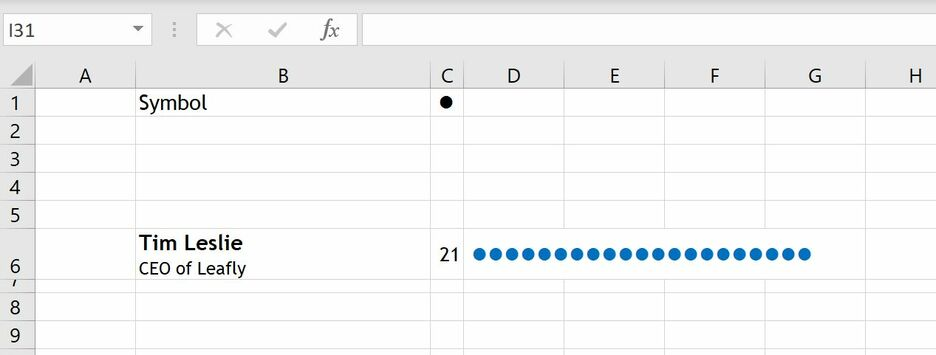 How to create a Unit Chart in Excel 5