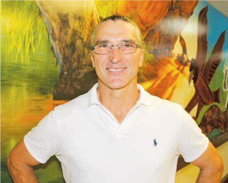 TOM COSIC AT MAREEBA CENTRE HISTORICAL MURAL