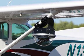 This camera pod allows DJI drone systems to be used inside a camera pod on a Cessna Aircraft.