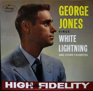 This is the sleeve of the George Geones single White Lightning released on Mercury records in 1959
