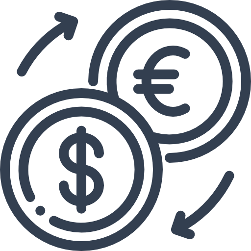 Icon takes you to the Currency Converter tool