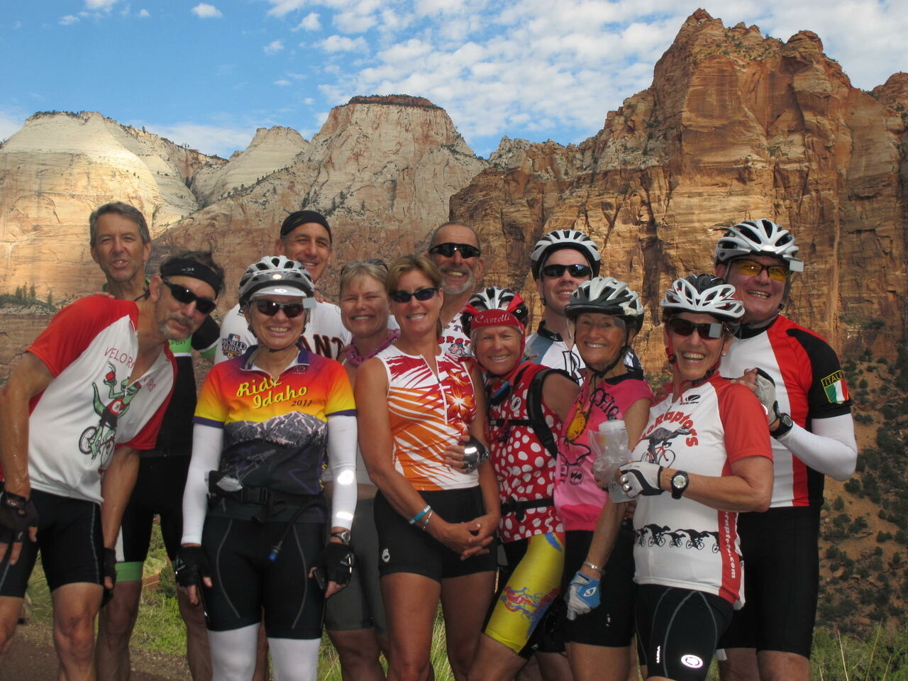Cycling with friends in Zion, Utah