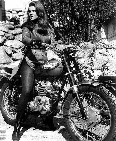 Ann Margot, Elvis, Viva Las Vegas, Triumph motorbikes, perfection