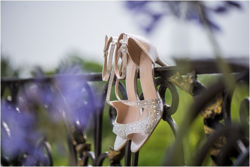 Wedding shoes at Relais Fra Lorenzo