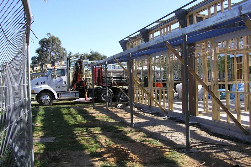 Classrooms being built - 2006