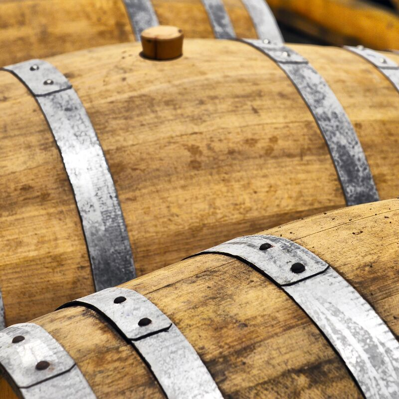 Used and freshly emptied Vermouth Casks