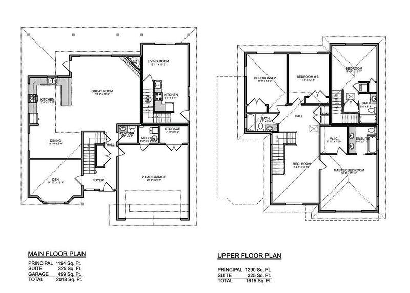 Floor Plan   Cedar 8621   Main and Upper