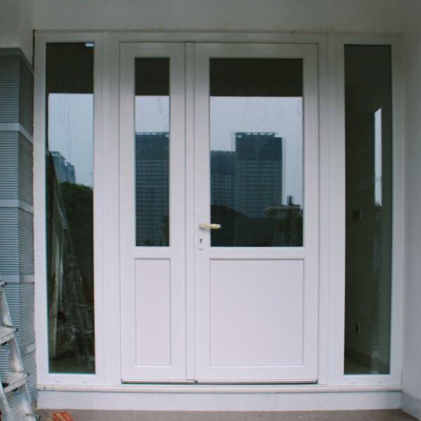 Wohnraum UPVC Entrance door  white