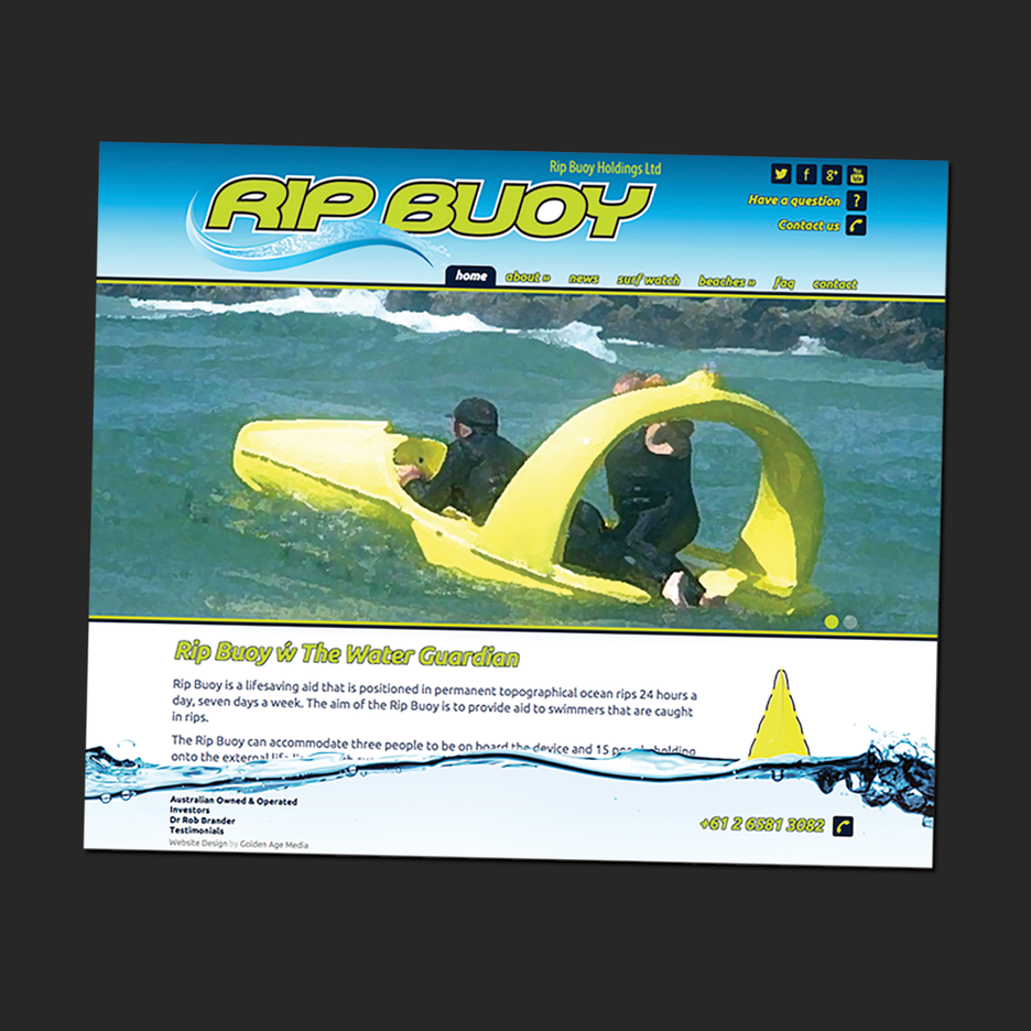 UI and UX design for the Rip Buoy website.