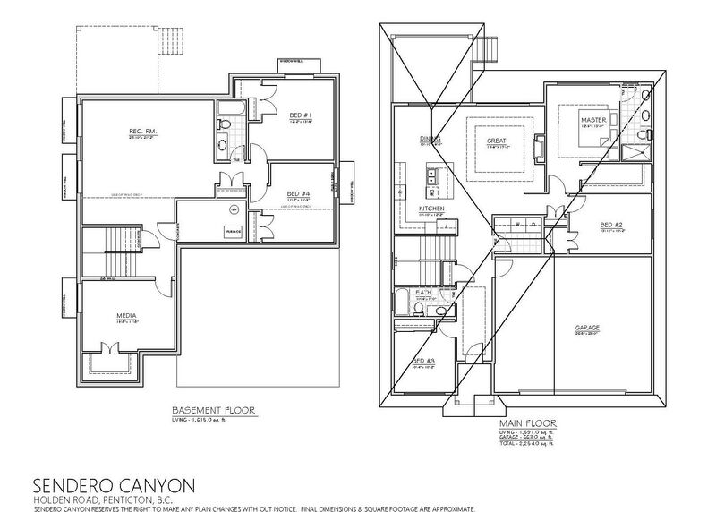 Floor Plan Inside   169 Sendero Cres