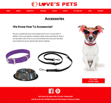 A screen shot from Love's Pets website.