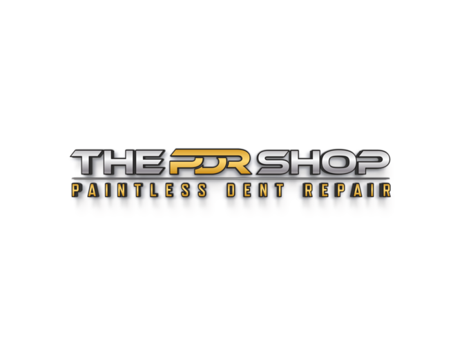 This is the Logo for The PDR Shop that offers Mobile Paintless Dent Repair in  Austin Tx , Buda Tx, and Kyle TX