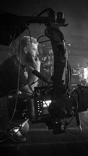Cinematographer David Cawley, based in London, on set with Arri Alexa