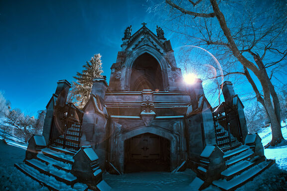 Gothic Crypt in Winter