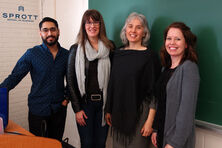 Trisha Cooke, Monique Smith, and Ankit Verma offering valuable insights to the BUSI 3204 students at the Sprott School of Business into the TV and media landscape and the digital campaign launched by You.i TV.
