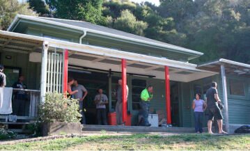 Ample room for groups at The Outpost, Mangarakau