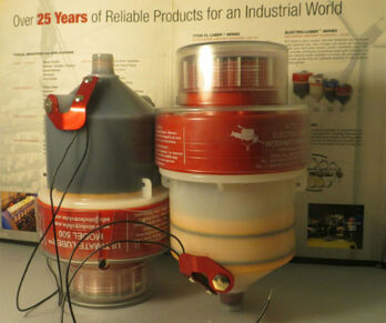 image of two ultimate 500 lubricators fitted with low level lubricant sensors