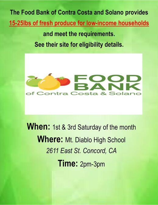 food bank MT Diablo Flyer