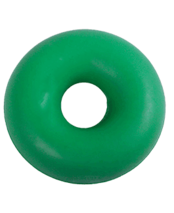 Green ring dog toy